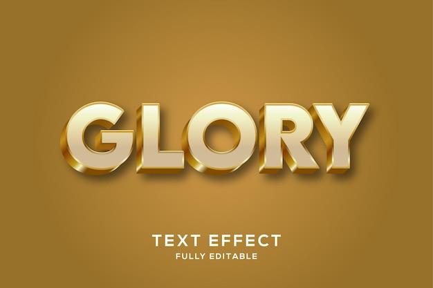 Effet de texte 3d doré de luxe