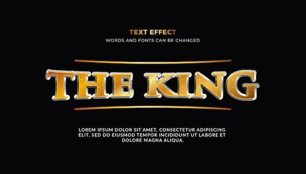 L'effet de texte 3d du roi