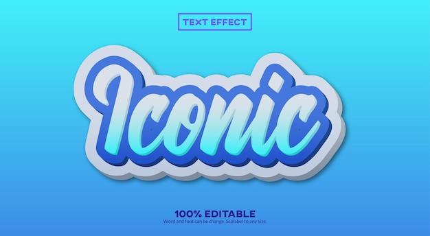 Effet de texte 3d emblématique