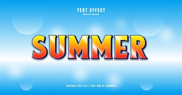 Effet de texte 3d d'été