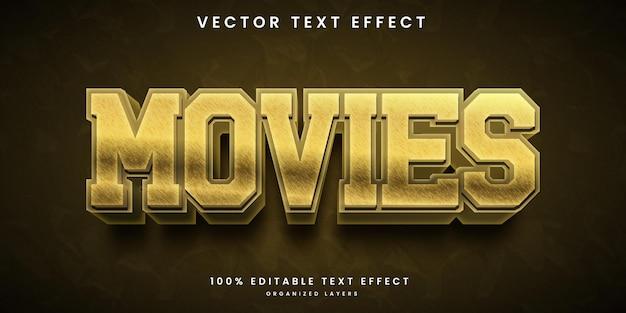 Effet de texte 3d de films