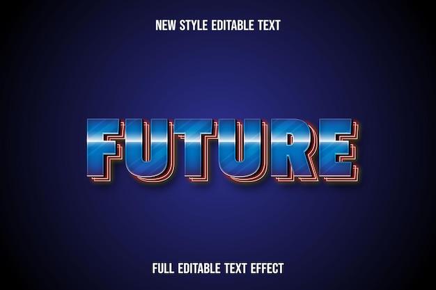 Effet de texte 3d future couleur bleu et rouge