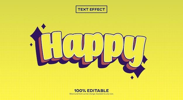 Effet de texte 3d heureux