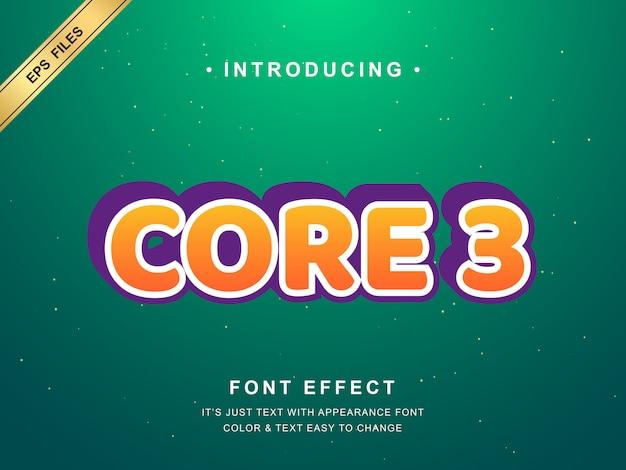 Effet de texte 3d moderne. couleur orange et contour blanc