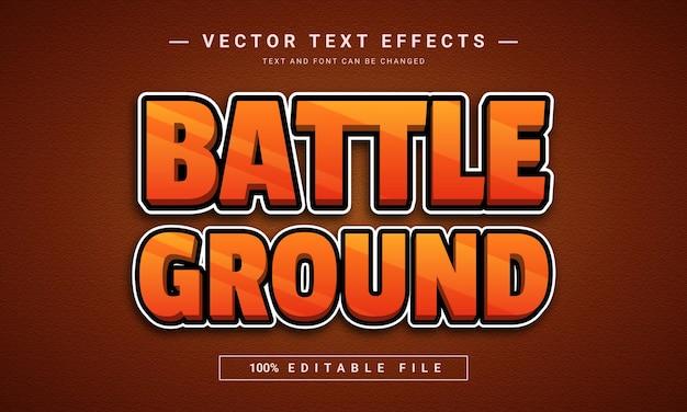 Effet de texte 3d modifiable battle ground