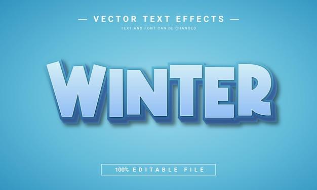 Effet de texte 3d modifiable en hiver
