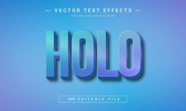 Effet de texte 3d modifiable holographique de texte holo