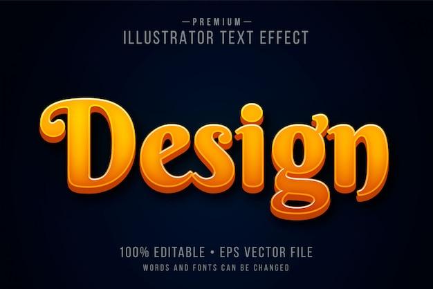 Effet de texte 3d modifiable moderne ou style graphique avec gradient de feu orrange rouge chaud au-dessus de fond sombre