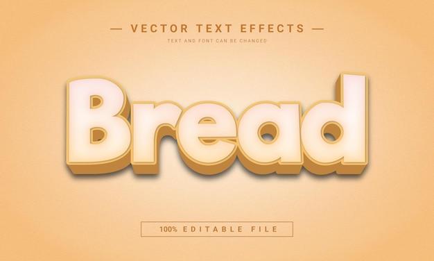 Effet de texte 3d modifiable de pain
