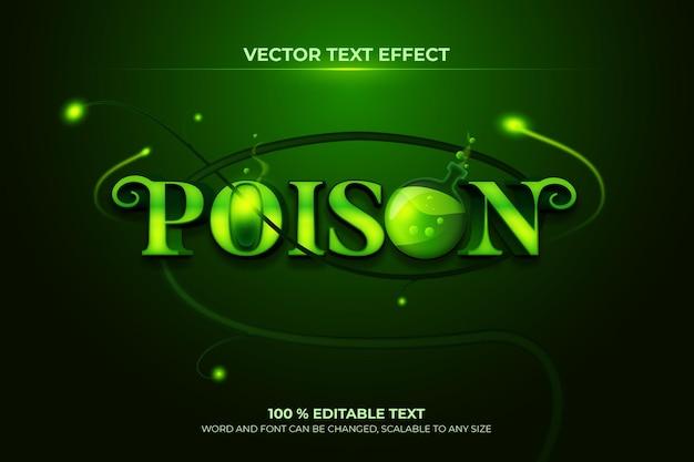 Effet de texte 3d modifiable de poison avec le style de fond de branche verte