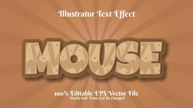 Effet de texte 3d modifiable à la souris premium