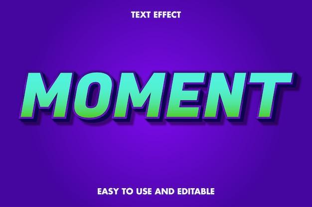 Effet de texte 3d - moment. facile à utiliser et modifiable.