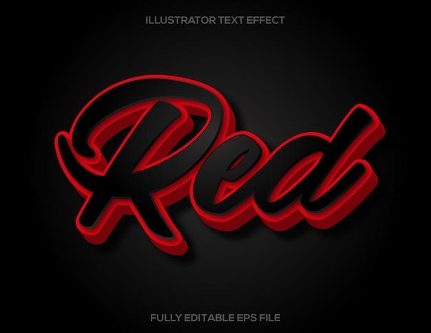 Effet de texte 3d noir et rouge