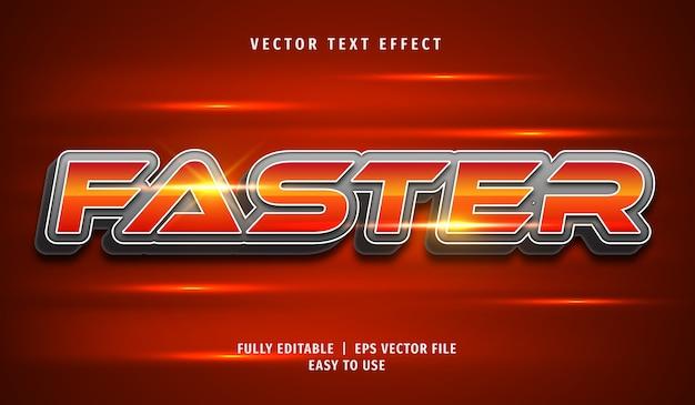 Effet de texte 3d plus rapide, style de texte modifiable