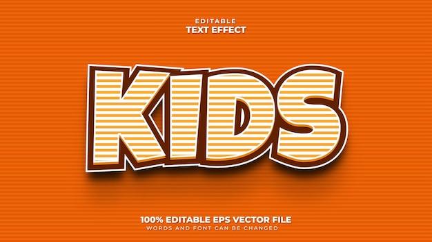 Effet de texte 3d pour enfants