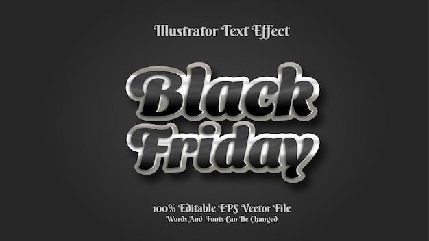 Effet de texte 3d premium modifiable vendredi noir