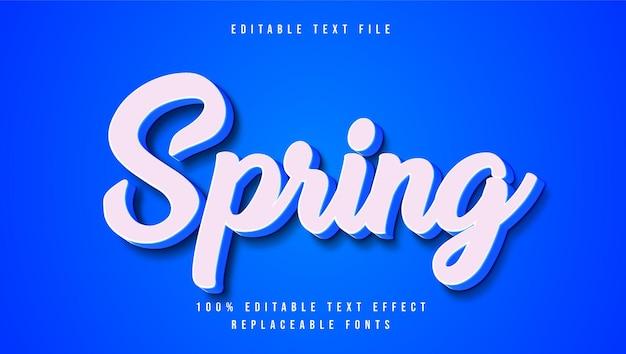 Effet de texte 3d de printemps