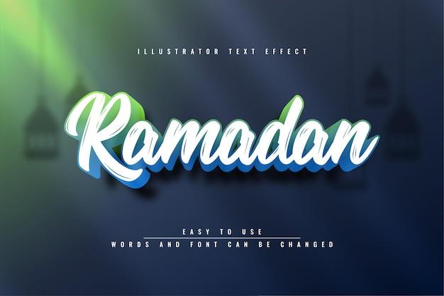 Effet de texte 3d ramadan