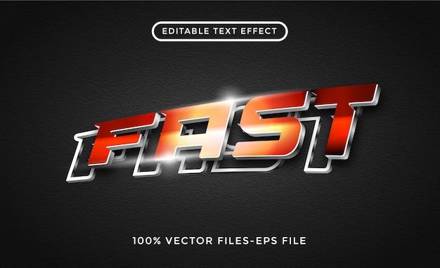 Effet de texte 3d rapide vecteur premium