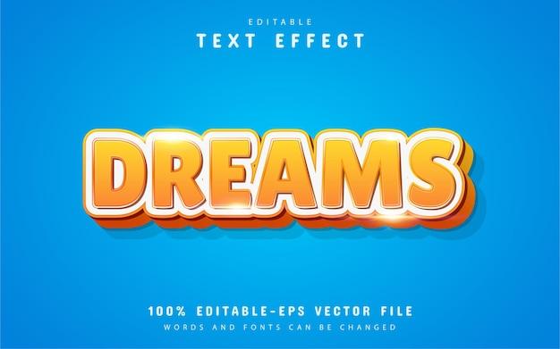 Effet de texte 3d de rêves