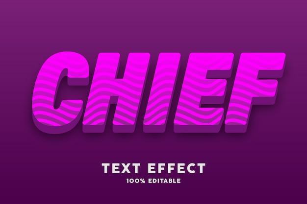 Effet de texte 3d rose avec des lignes ondulées