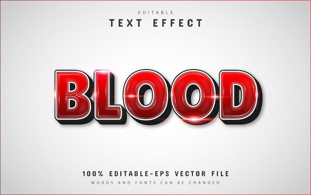 Effet de texte 3d de sang