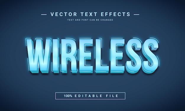 Effet de texte 3d sans fil