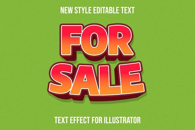 Effet de texte 3d à vendre dégradé