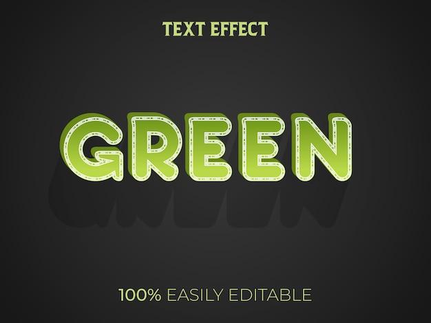 Effet de texte 3d vert
