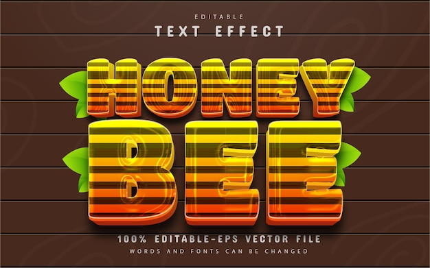 Effet de texte abeille