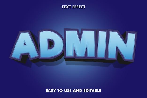 Effet de texte - admin. modifiable