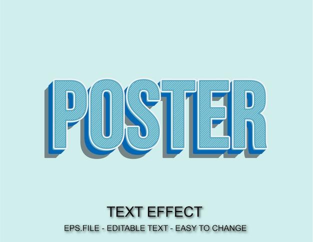 Effet de texte affiche pop art