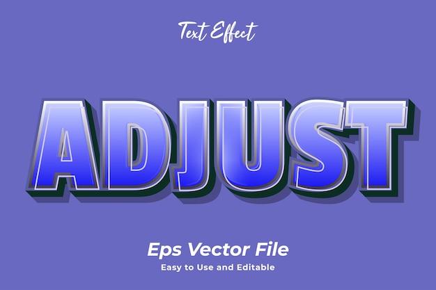 Effet de texte ajuster vecteur premium modifiable et facile à utiliser