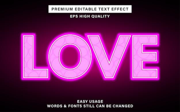 Effet de texte d'amour mignon