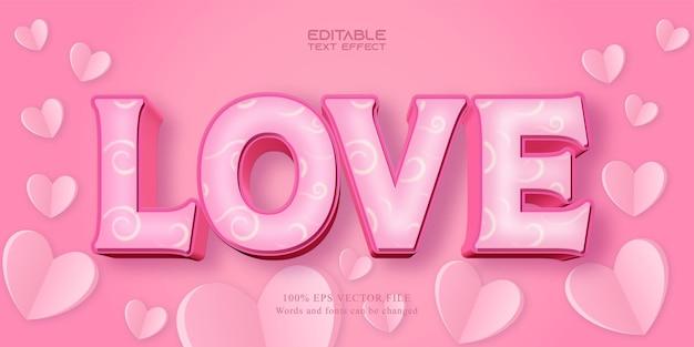 Effet de texte d'amour pour la saint-valentin