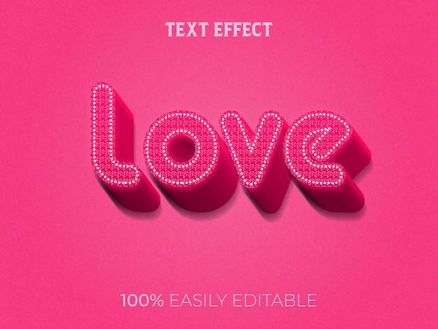 Effet de texte d'amour