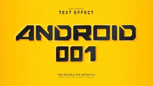Effet de texte android