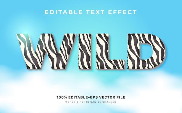 Effet de texte animal sauvage