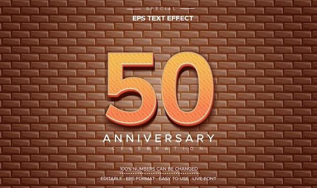 Effet de texte anniversaire de cinquante ans