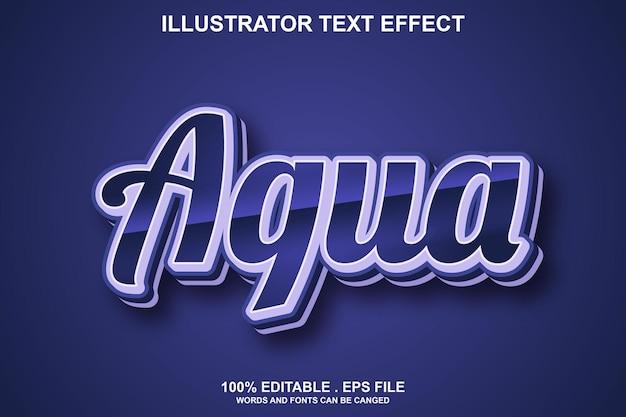 Effet de texte aqua modifiable