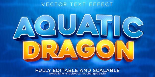 Effet de texte aquatique