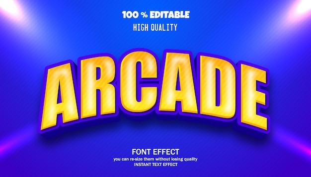 Effet de texte d'arcade