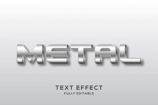Effet de texte argent métallique moderne