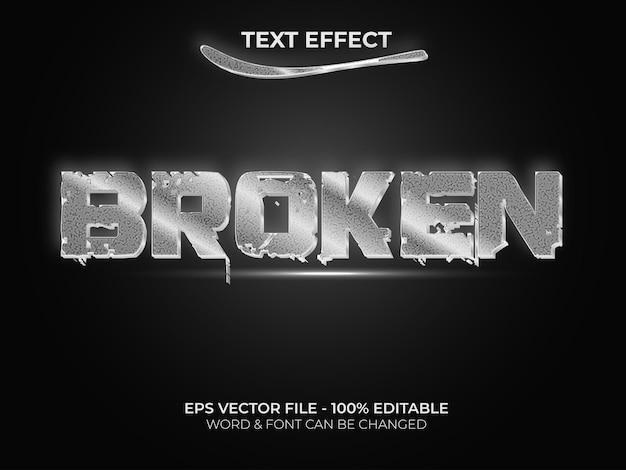 Effet de texte argenté effet de texte modifiable style cassé