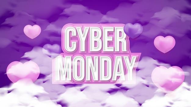 Effet de texte et arrière-plan du cyber lundi