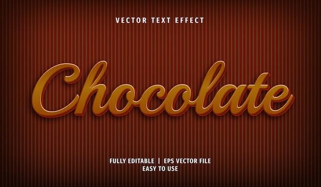 Effet de texte au chocolat 3d, style de texte modifiable