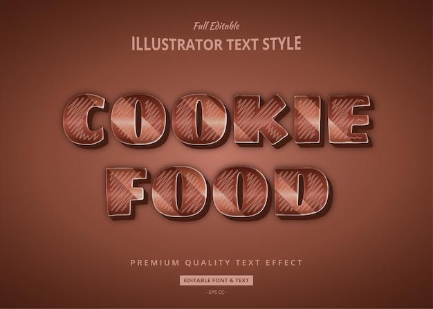 Effet de texte au chocolat cookie