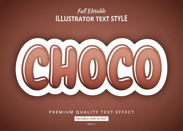 Effet de texte au chocolat