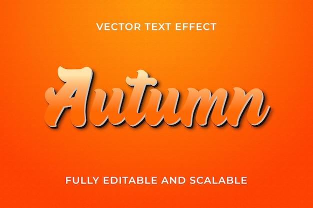 Effet de texte d'automne