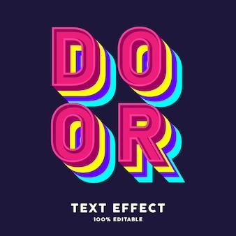 Effet de texte aux couleurs vives, texte modifiable